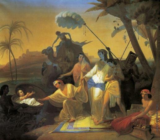 Флавицкий К. Д. Нахождение Моисея дочерью фараона