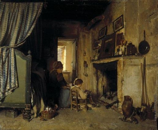 Харламов А. А. Бабушка с внучком