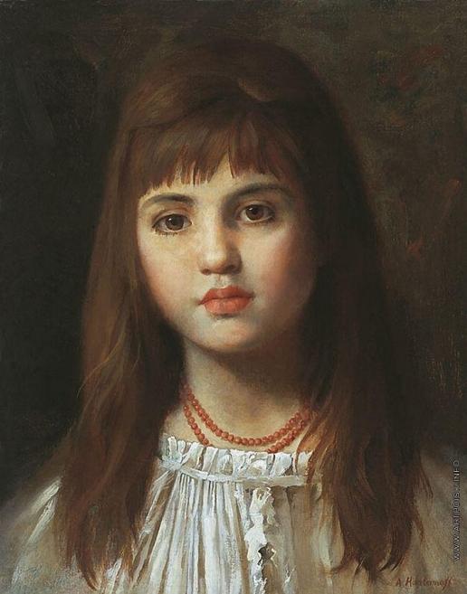 Харламов А. А. Девочка с загадочной улыбкой