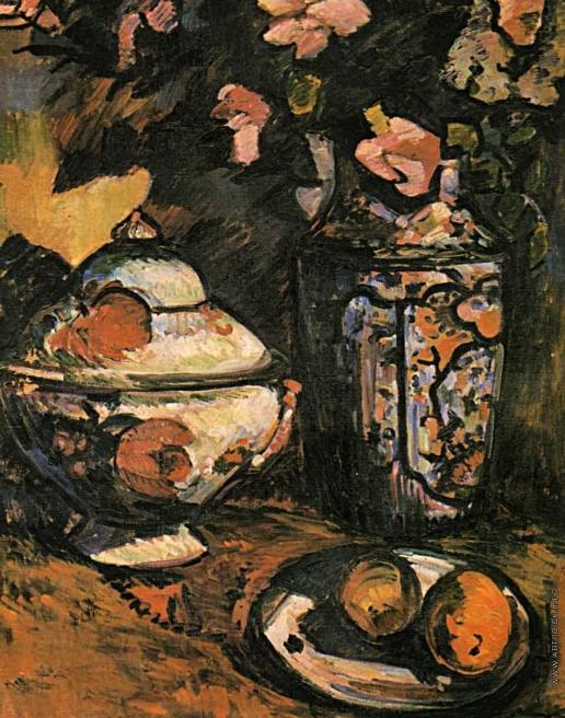 Экстер А. А. Натюрморт с вазой и цветами