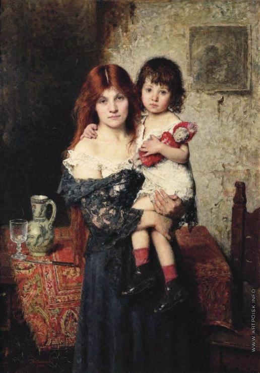 Харламов А. А. Мать и дочь