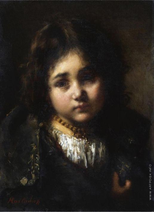 Харламов А. А. Портрет девочки