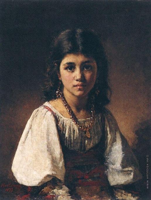 Харламов А. А. Портрет девочки-цыганки