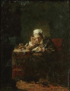 Харламов А. А. Портрет женщины, возможно матери художника