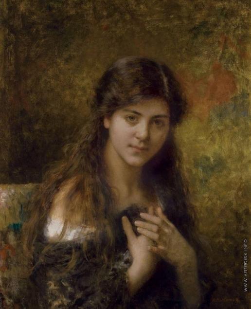 Харламов А. А. Портрет молодой девушки