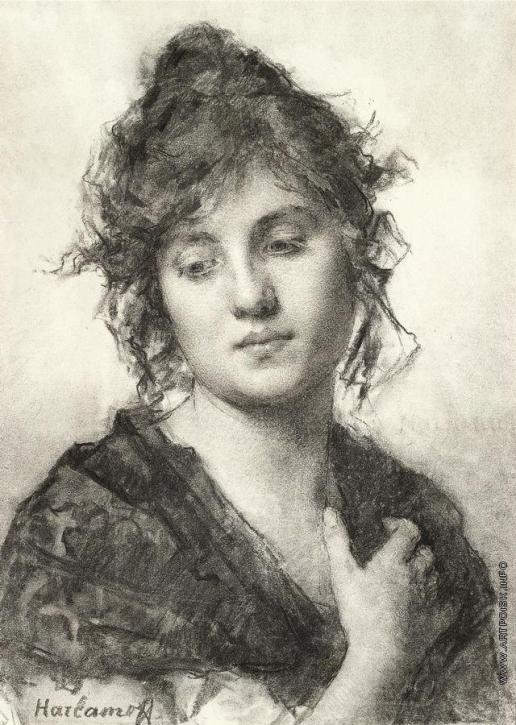 Харламов А. А. Портрет молодой женщины