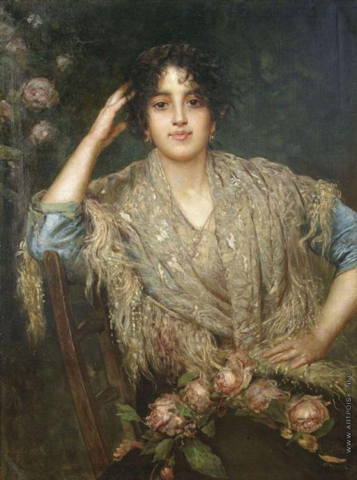 Харламов А. А. Портрет южанки с шалью