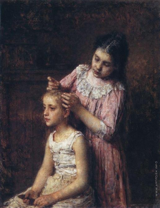 Харламов А. А. Причесывание (Две сестры)