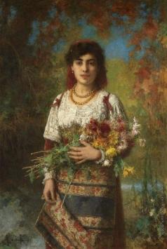 Харламов А. А. Цыганка с цветами