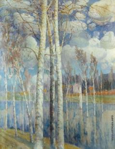 Химона Н. П. Весенний пейзаж с березами
