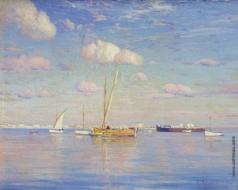 Химона Н. П. Лодки в море