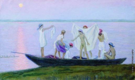 Чернышев Н. М. Купание на озере