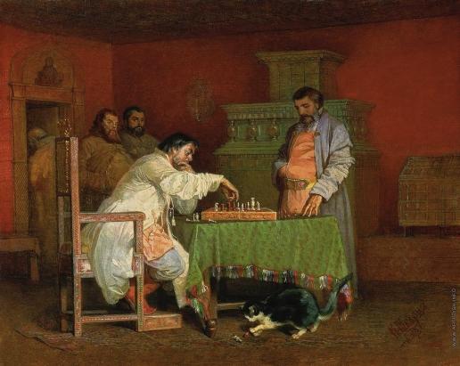 Шварц В. Г. Сцена из домашней жизни русских царей (Игра в шахматы)