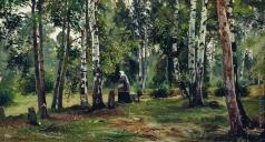 Шишкин И. И. Березовая роща. 1880-
