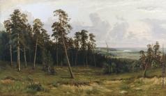 Шишкин И. И. Богатый лог (Пихтовый лес на реке Каме)