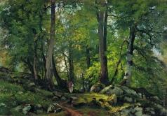 Шишкин И. И. Буковый лес в Швейцарии. 1863-