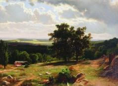 Шишкин И. И. Вид в окрестностях Дюссельдорфа. 1864-