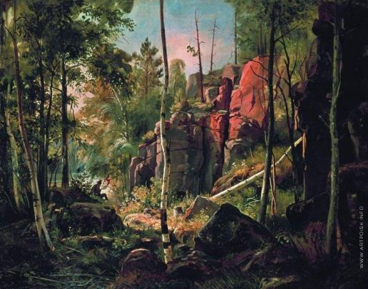 Шишкин И. И. Вид на острове Валааме (Местность Кукко). 1859-