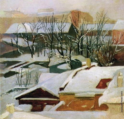 Шишкин И. И. Городские крыши зимой