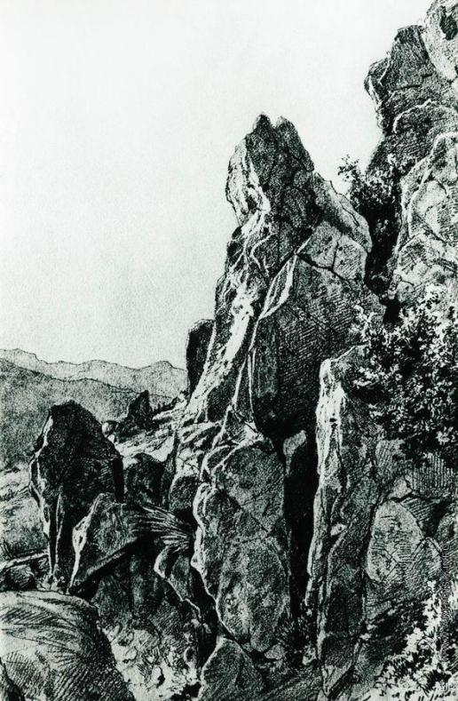 Шишкин И. И. Гурзуф. Скалы