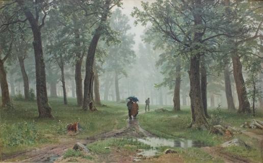 Шишкин И. И. Дождь в дубовом лесу