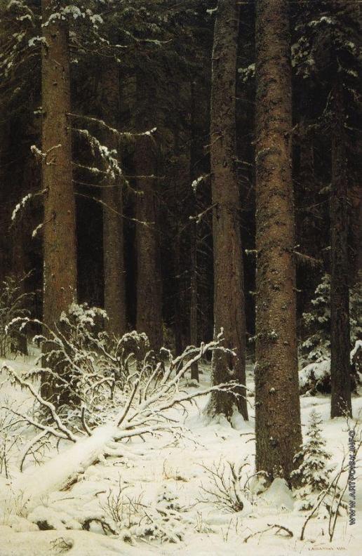 Шишкин И. И. Еловый лес зимой