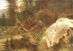 Шишкин И. И. Камни в лесу