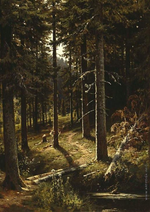 Шишкин И. И. Лесной пейзаж. 1889-