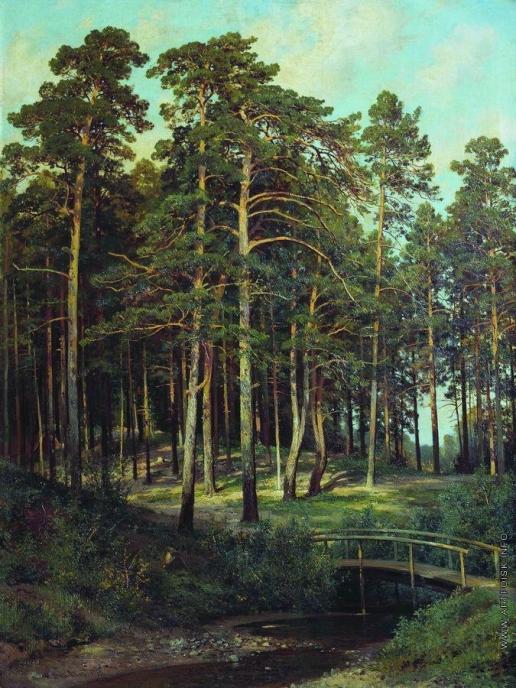 Шишкин И. И. Мостик в лесу