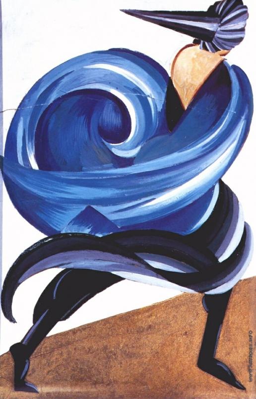 """Экстер А. А. Эскиз к постановке """"Ромео и Джульетта"""". Первая маска на балу"""