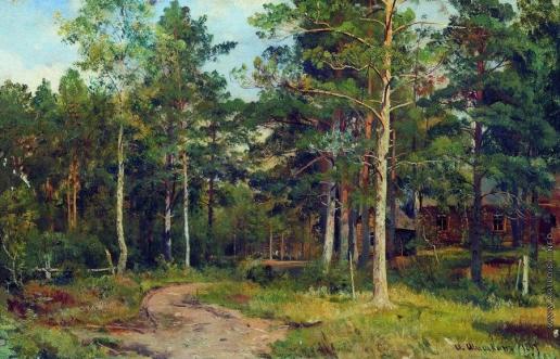 Шишкин И. И. Осенний пейзаж. Дорожка в лесу