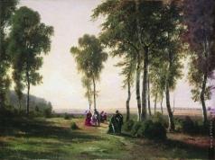 Шишкин И. И. Пейзаж с гуляющими