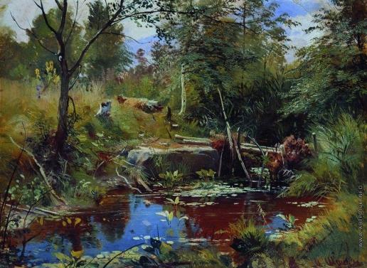 Шишкин И. И. Пейзаж с мостиком