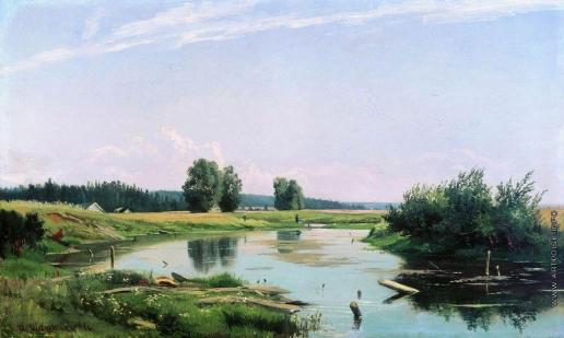 Шишкин И. И. Пейзаж с озером