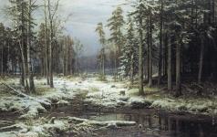Шишкин И. И. Первый снег