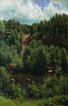 Шишкин И. И. После дождя. Этюд леса