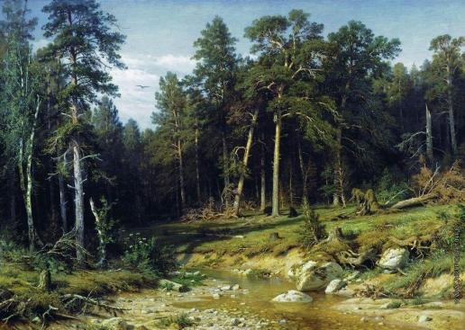 Шишкин И. И. Сосновый бор. Мачтовый лес в Вятской губернии