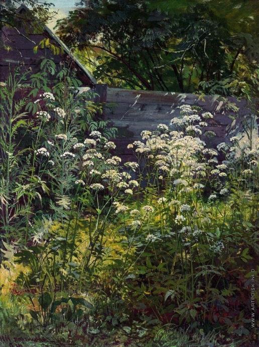 Шишкин И. И. Уголок заросшего сада. Сныть-трава