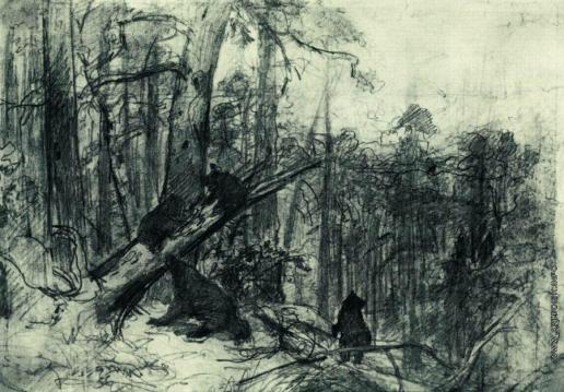 Шишкин И. И. Утро в сосновом лесу