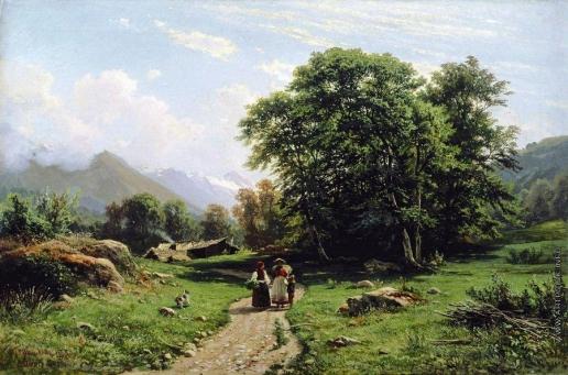 Шишкин И. И. Швейцарскй пейзаж