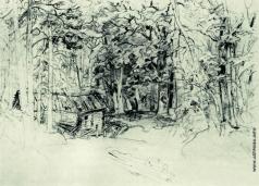 Шишкин И. И. Эскиз к картине 1898 года