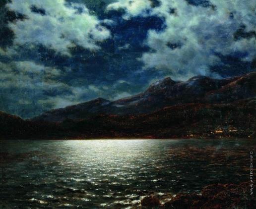 Шультце И. Ф. Ницца в лунную ночь