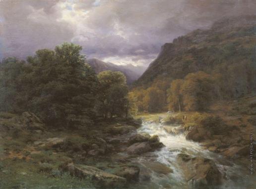 Эрасси М. С. Рейхенбахский водопад у Мейрингена в Швейцарии