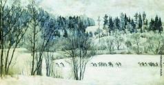 Юон К. Ф. Лыжная экскурсия