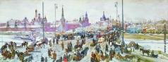 Юон К. Ф. Москворецкий мост. Старая Москва