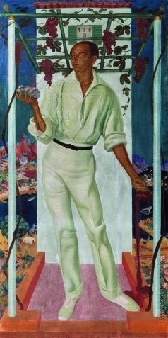 Яковлев А. Е. Портрет мексиканского художника Роберто Монтенегро