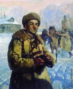 Яковлев В. Н. Портрет Героя Советского Союза генерал-майора И.В. Панфилова
