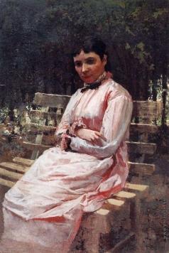 Ярошенко Н. А. В парке. Портрет С.Р.Левицкой