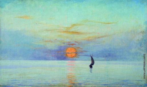 Ярошенко Н. А. Закат солнца над морем