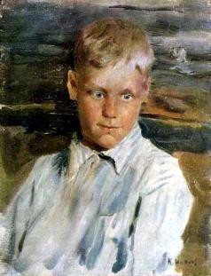 Максимов К. М. Портрет мальчика в синей рубашке